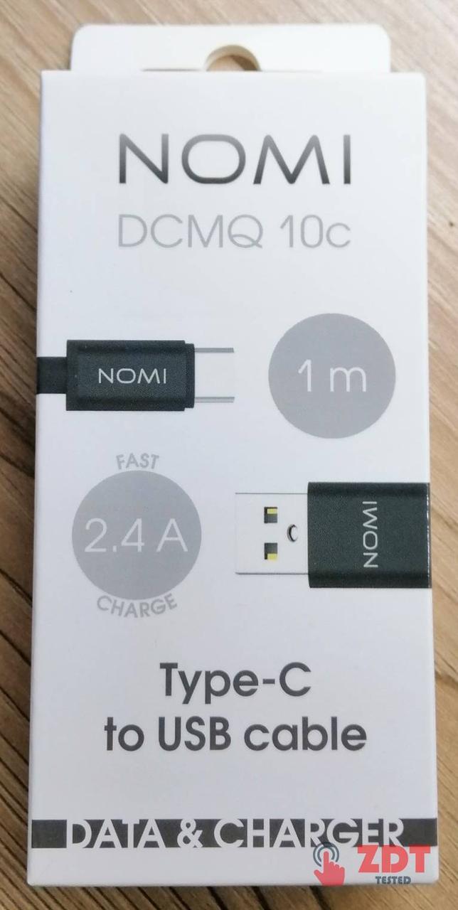(ZP) USB кабель Nomi DCMQ 10c Type-C (1м)- черный (2270010)