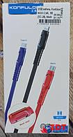 USB кабель Konfulon micro USB (2.4A/1м) (DC-28)- черный (779593)