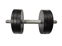 Гантель 13 кг стальная наборная с грифом 35 см