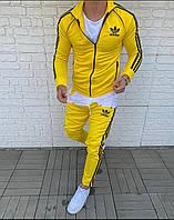 Спортивный костюм мужской адидас adidas желтый яркий молодежный брендовый весна лето 2021