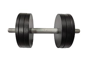 Гантель 15 кг стальная наборная с грифом 35 см