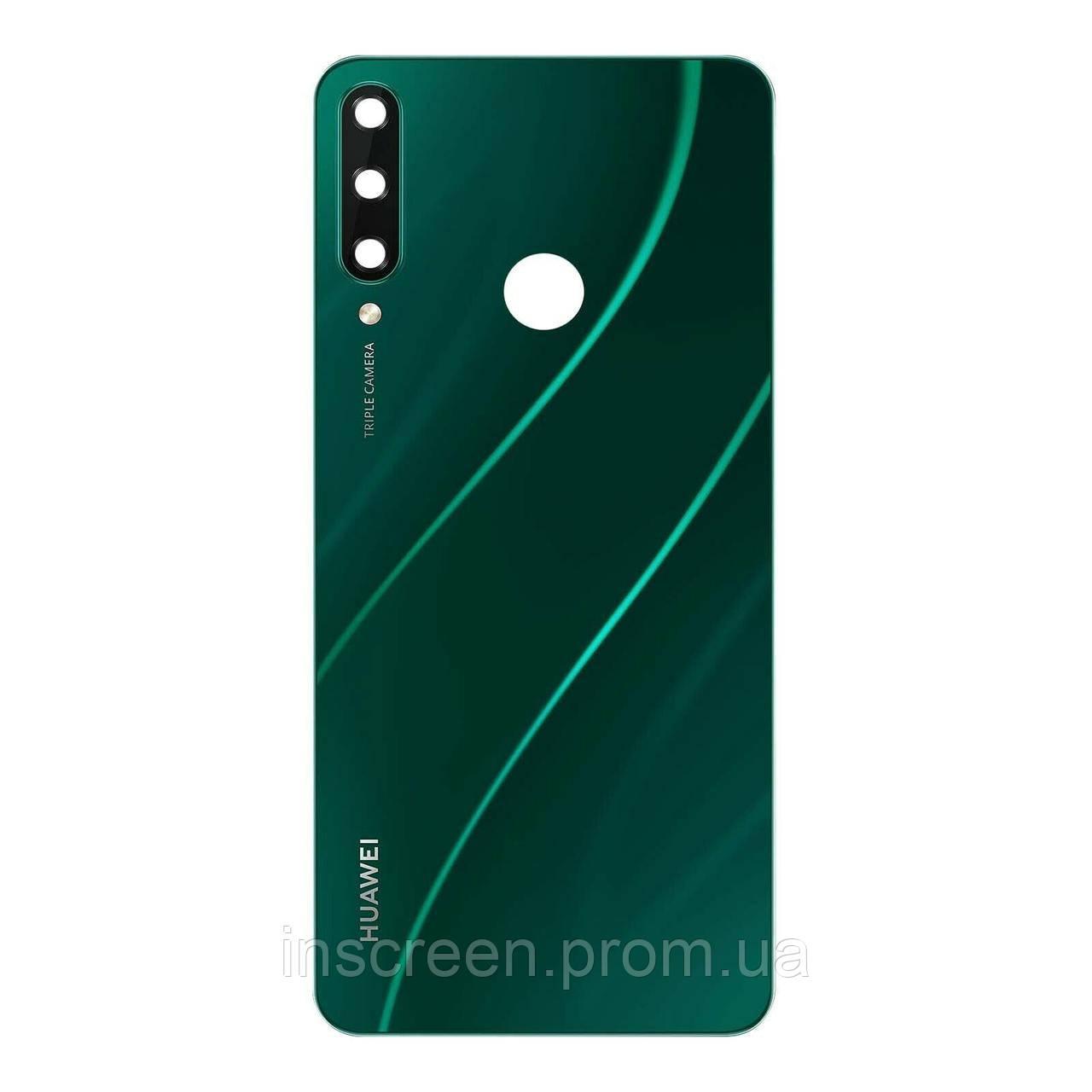 Задня кришка Huawei Y6p 2020 MED-LX9, MOA-LX9N, зелена, Emerald Green, Оригінал Китай
