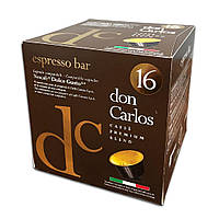 "Кава в капсулах Carraro Don Carlos ""Espresso Bar"" 16 шт."