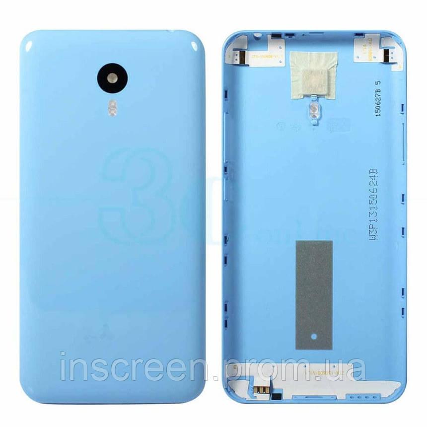 Задняя крышка Meizu M2 Note голубая, фото 2