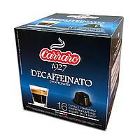 "Кава в капсулах Carraro ""Decaffienato"" 16 шт."