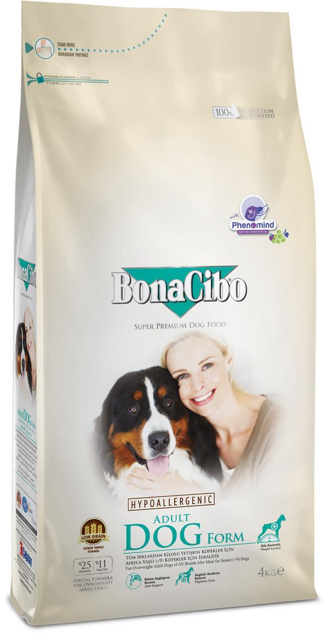 Сухой корм BonaCibo Form для собак с лишним весом и для стареющих собак 4 кг