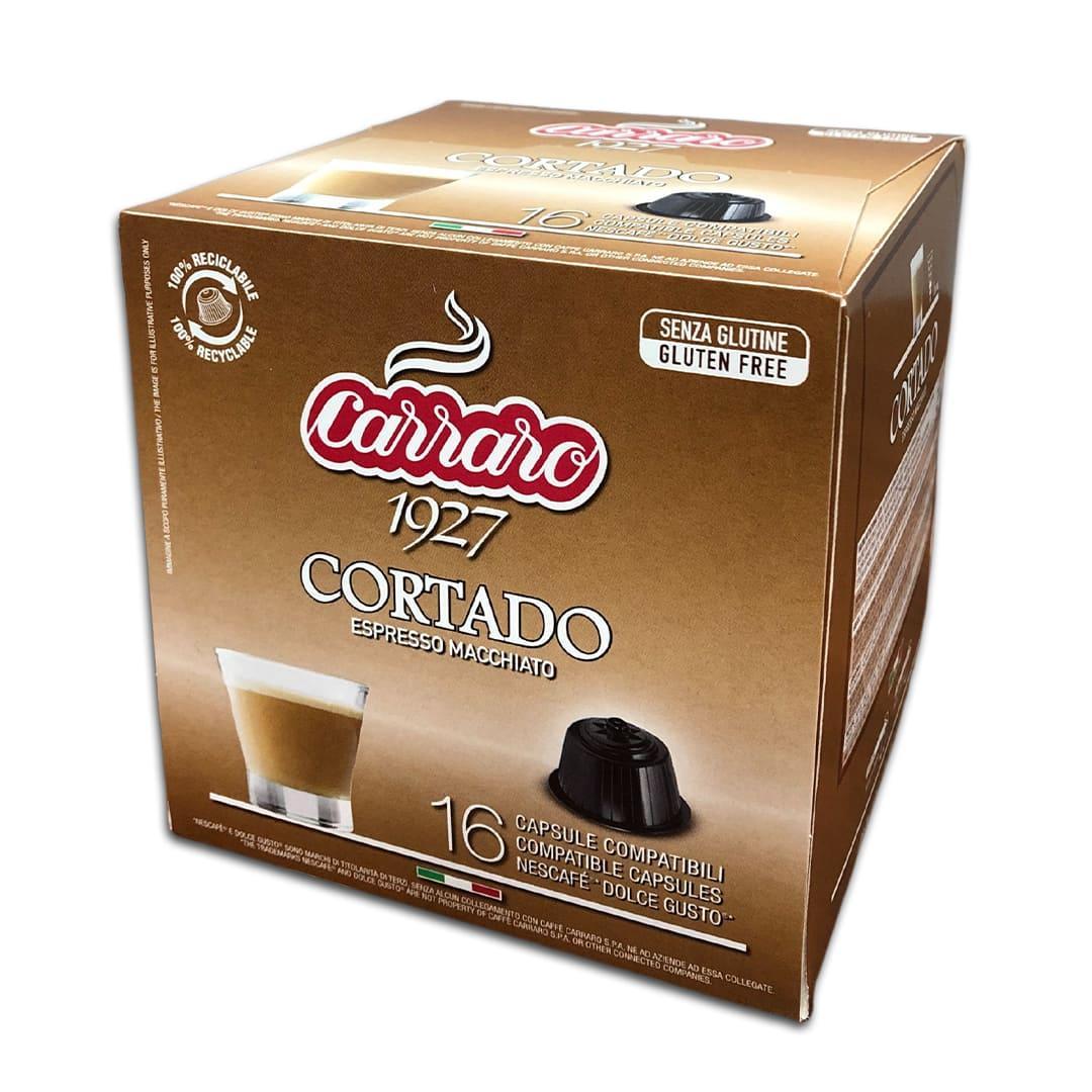 """Кофе в капсулах Carraro """"Cortado"""" 16 шт."""