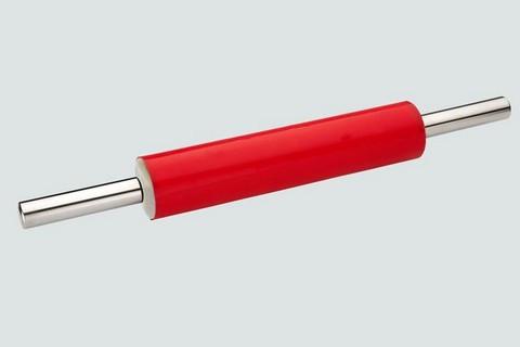 Силиконовая скалка для теста с металлическими ручками
