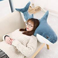 Мягкая игрушка акула Shark doll 60 см | Игрушка-обнимашка
