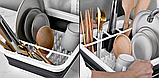 Сушка силиконовая для посуды Benson BN-090 | складная кухонная сушилка для посуды Бенсон, Бэнсон, фото 3