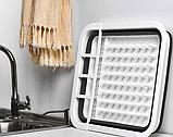 Сушка силиконовая для посуды Benson BN-090 | складная кухонная сушилка для посуды Бенсон, Бэнсон, фото 5