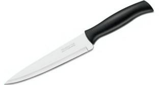 Нож кухонный бытовой черная ручка