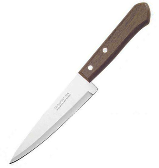 Нож поварской,деревянная ручка