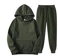 Спортивный костюм мужской зелёный Boss   Комплект мужской Худи + Штаны