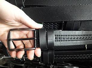 Ремень мужской кожаный черный ширина 4 см под джинсы шорты Р-1103, фото 2