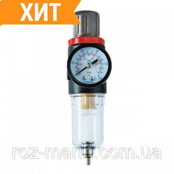 """Фильтр для очистки воздуха + редуктор 1/4"""" INTERTOOL PT-1412"""