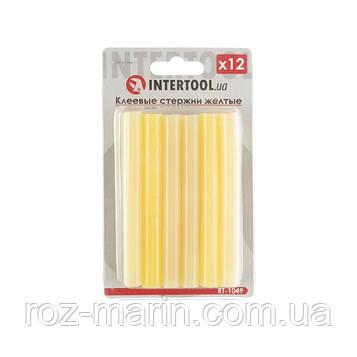 Комплект желтых клеевых стержней 11.2мм*100мм, 12шт.