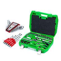 Набір інструментів 72 од. ET-6072SP+Набір викруток ударних 6 шт. HT-0403+набір ключів 12 од. HT-1203