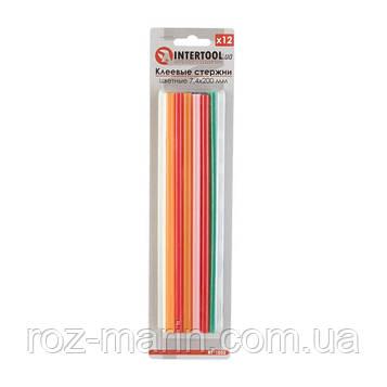 Комплект цветных клеевых стержней 7.4мм*200мм, 12шт