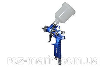 Пістолет фарбувальний пневматич. HVLP міні, форсунка 0.8 мм, верхн. подача, бачок 125 мл, 3.0 bar