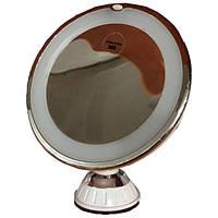 Зеркало косметическое  увеличивающее (х10), вращение на 360 градусов, JD788-1