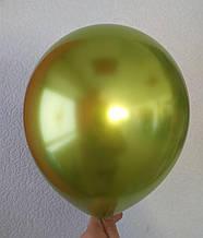 """Латексный шар хром Оливковый 12 """"(30см) Китай"""