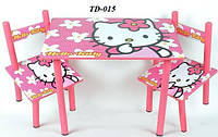 Детский столик и 2 стульчика Hello Kitty TD-015