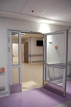 Двері протипожежні алюмінієві засклені до 90% EI 60 внутрішні