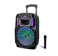Портативна Бездротова Bluetooth колонка+світломузика,мікрофон,пульт Model CH-8612