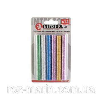 Комплект цветных перламутровых клеевых стержней 11.2мм*100мм, 12шт
