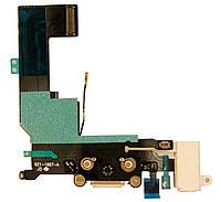 Шлейф IPHONE 5S с коннектором зарядки WHITE