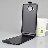 Чехол флип для Microsoft Lumia 950 XL чёрный, фото 1