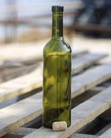 Винная бутылка 0,75 литра (темно-оливковое стекло)