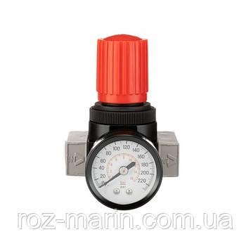 """Регулятор давления 1/4"""", 1-16 бар, 1600 л/мин, профессиональный"""