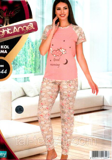 Комплект молодежный футболка + брюки манжет качество хлопок с лайкра Турция 1744