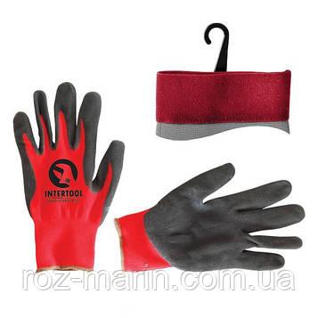 Перчатка красная вязанная синтетическая