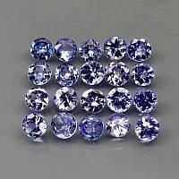 Танзанит натуральный . 20 шт - 2.85 кар