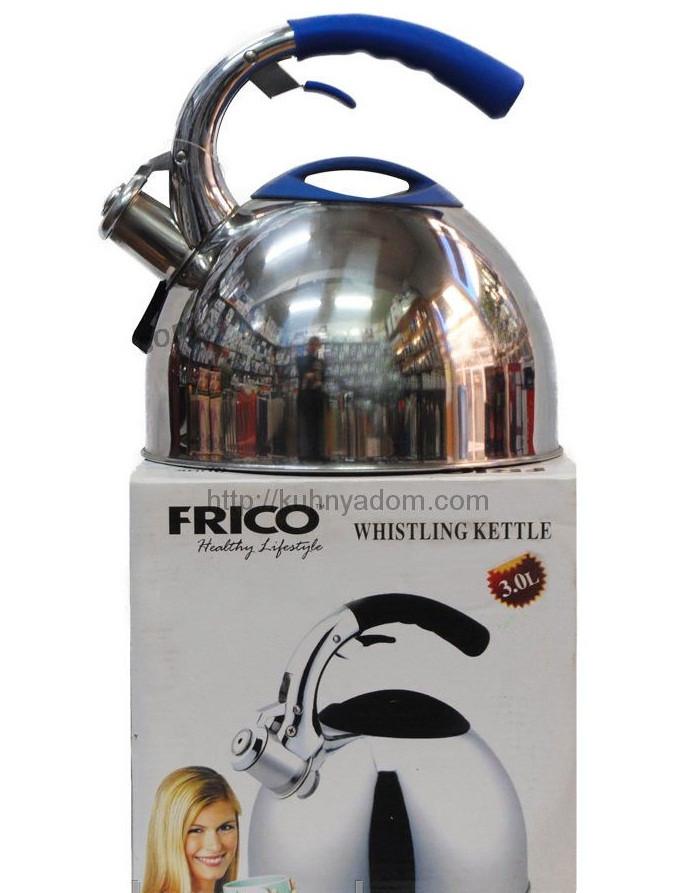 Чайник металл. со свистком FRICO FRU-762, 3 л.