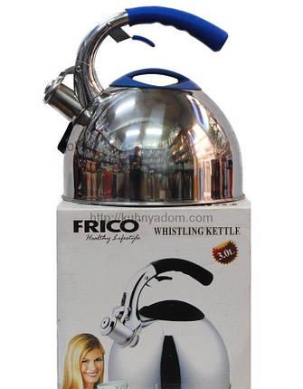 Чайник металл. со свистком FRICO FRU-762, 3 л., фото 2