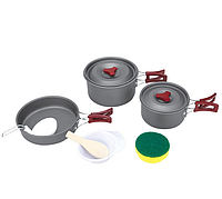 Набор туристической посуды BRS-153, 9 предметов