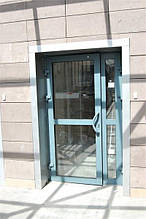 Двері протипожежні алюмінієві засклені до 90% EI 30 зовнішні