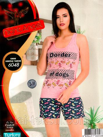 Костюм молодежный с шортиками качество хлопок с лайкра Турция 6048, фото 2