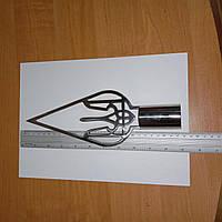 Навершие на кабинетный флагшток большое тризуб-капля, фото 1