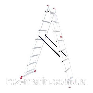 Драбина алюмінієва 2-х секційна універсальна розкладна INTERTOOL LT-0208