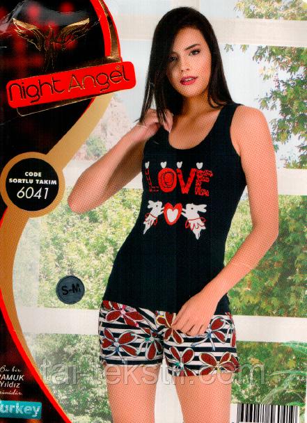 Домашний комплект майка и шорты Night Аngel Турция № 6041