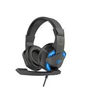Наушники компьютерные игровые с микрофоном (геймерские) HAVIT HV-H2032d (синие)