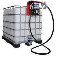 Еврокуб для хранения дизельного топлива на 1000 литров с топливораздаточной колонкой