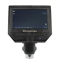 """Цифровий мікроскоп з монітором 4.3"""" G600 (запис відео і фото на microSD (16gb class 10), фокус 20-120 мм,"""