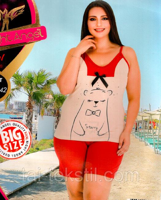 Домашний комплект майка и шорты большого размера 6042