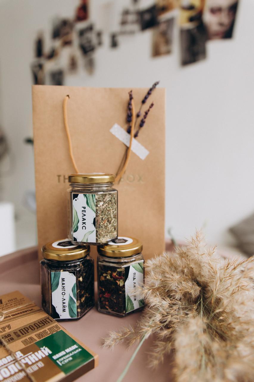 Подарочный набор / Премиум пакет с чаем и шоколадом